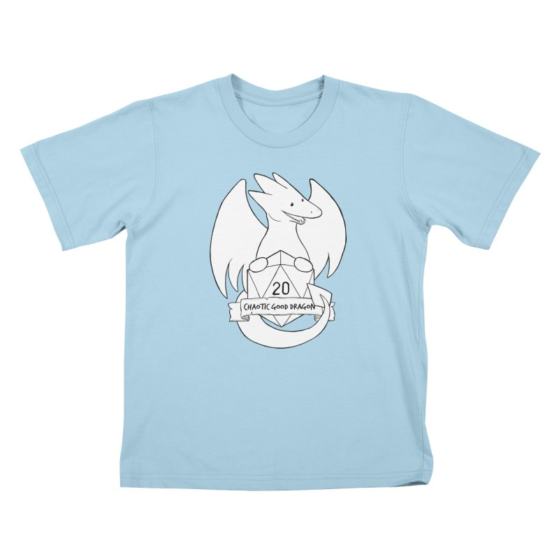 Chaotic Good Dragon Black and White Kids T-Shirt by DnDoggos's Artist Shop