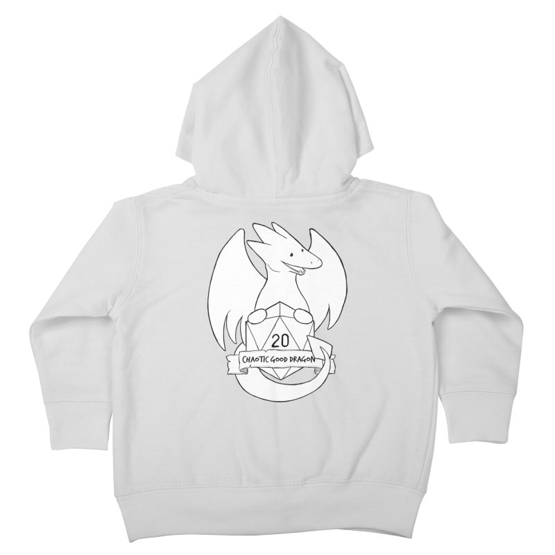 Chaotic Good Dragon Black and White Kids Toddler Zip-Up Hoody by DnDoggos's Artist Shop
