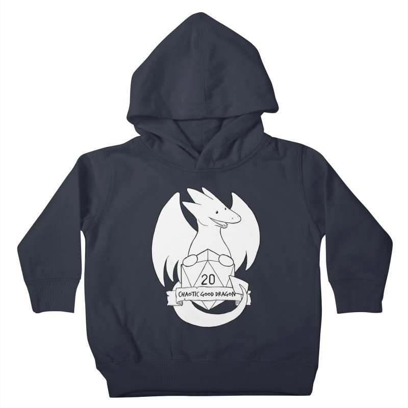 Chaotic Good Dragon Black and White Kids Toddler Pullover Hoody by DnDoggos's Artist Shop