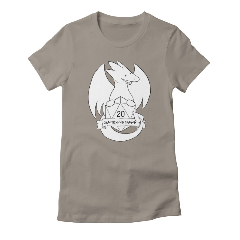 Chaotic Good Dragon Black and White Women's T-Shirt by DnDoggos's Artist Shop