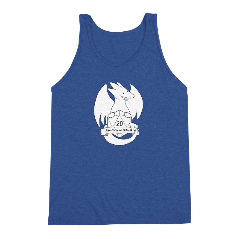 Chaotic Good Dragon Black and White Men's Triblend Tank by DnDoggos's Artist Shop