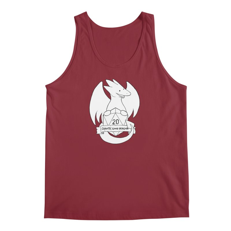 Chaotic Good Dragon Black and White Men's Tank by DnDoggos's Artist Shop