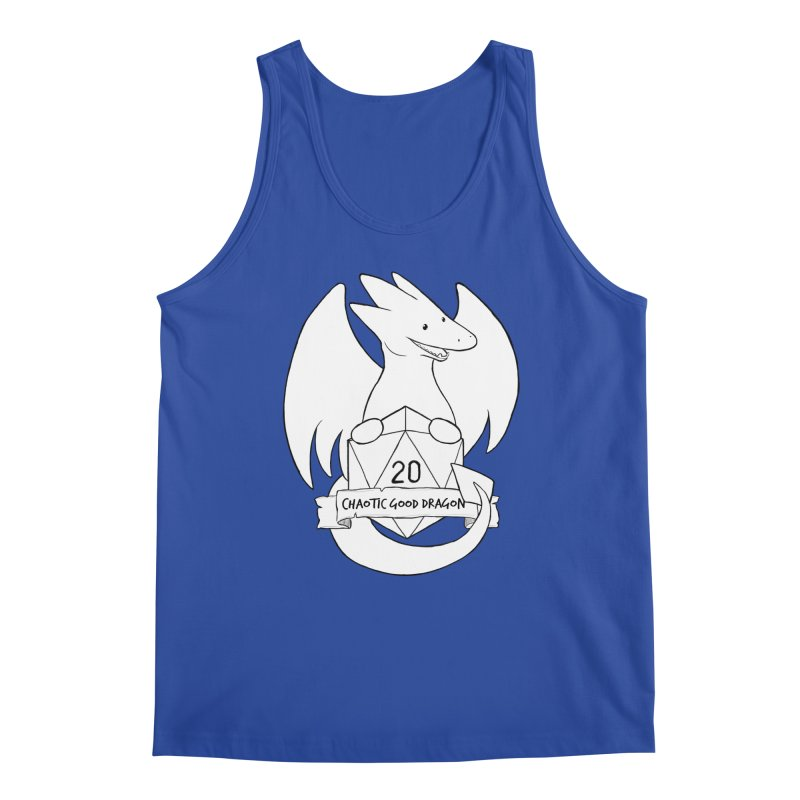 Chaotic Good Dragon Black and White Men's Regular Tank by DnDoggos's Artist Shop