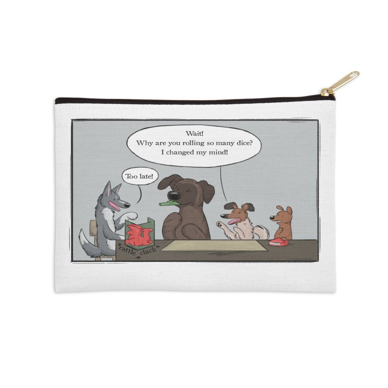 Wait ... Why Are You Rolling So Many Dice? Accessories Zip Pouch by DnDoggos's Artist Shop