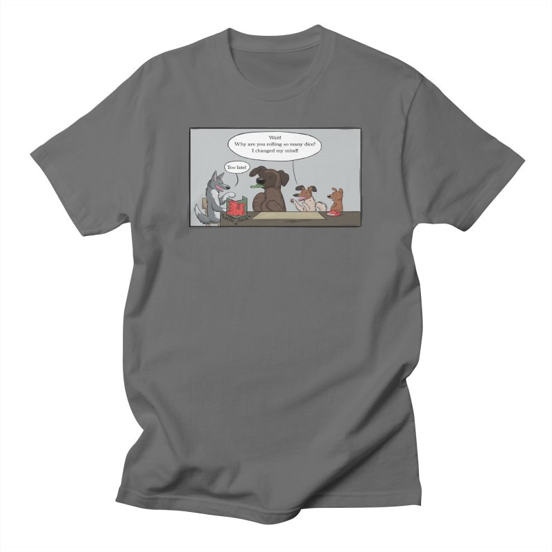 Wait ... Why Are You Rolling So Many Dice? Men's T-Shirt by DnDoggos's Artist Shop