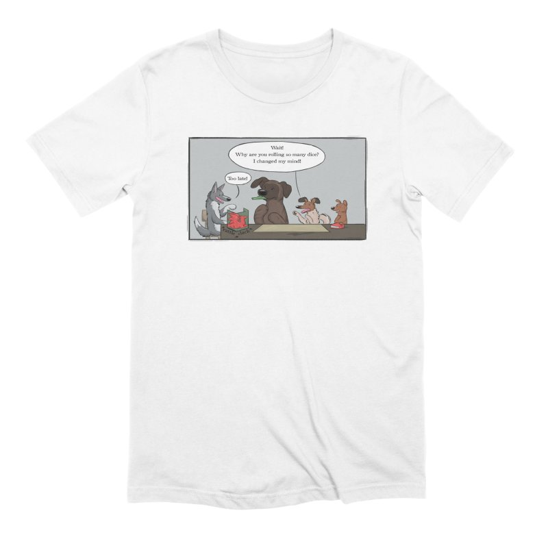 Wait ... Why Are You Rolling So Many Dice? Men's Extra Soft T-Shirt by DnDoggos's Artist Shop