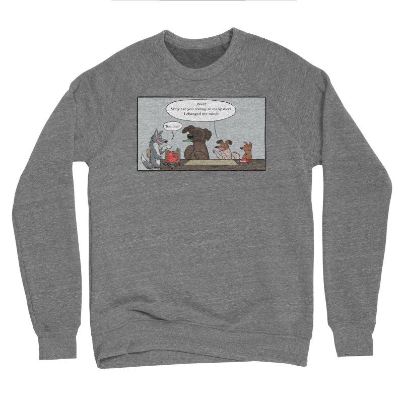 Wait ... Why Are You Rolling So Many Dice? Women's Sponge Fleece Sweatshirt by DnDoggos's Artist Shop