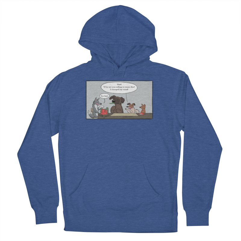 Wait ... Why Are You Rolling So Many Dice? Men's French Terry Pullover Hoody by DnDoggos's Artist Shop