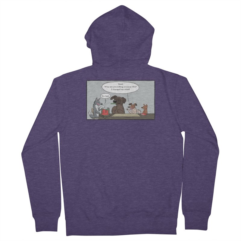 Wait ... Why Are You Rolling So Many Dice? Men's Zip-Up Hoody by DnDoggos's Artist Shop