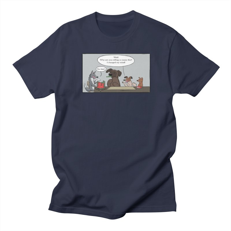 Wait ... Why Are You Rolling So Many Dice? Men's Regular T-Shirt by DnDoggos's Artist Shop
