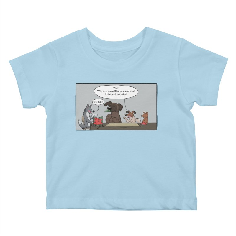 Wait ... Why Are You Rolling So Many Dice? Kids Baby T-Shirt by DnDoggos's Artist Shop