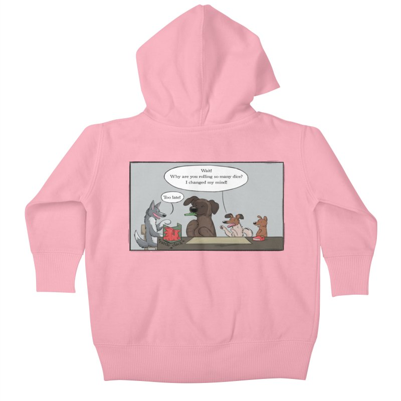 Wait ... Why Are You Rolling So Many Dice? Kids Baby Zip-Up Hoody by DnDoggos's Artist Shop