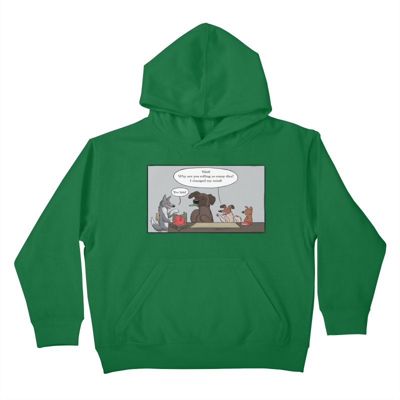 Wait ... Why Are You Rolling So Many Dice? Kids Pullover Hoody by DnDoggos's Artist Shop