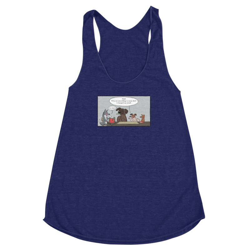 Wait ... Why Are You Rolling So Many Dice? Women's Racerback Triblend Tank by DnDoggos's Artist Shop