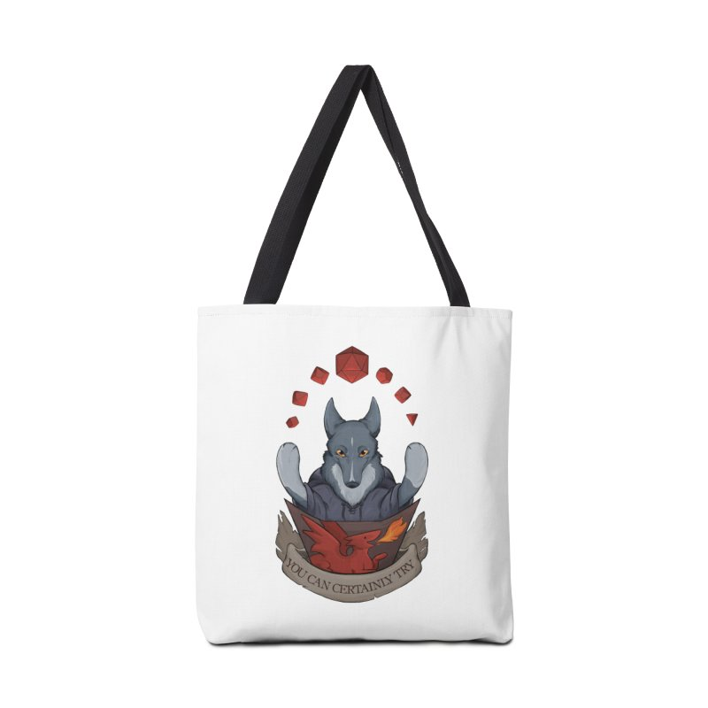 You Can Certainly Try Accessories Tote Bag Bag by DnDoggos's Artist Shop