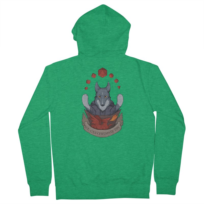 You Can Certainly Try Men's Zip-Up Hoody by DnDoggos's Artist Shop