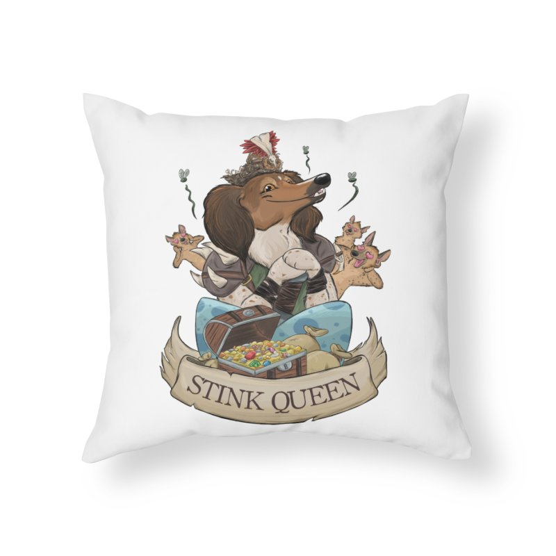 Stink Queen Home Throw Pillow by DnDoggos's Artist Shop