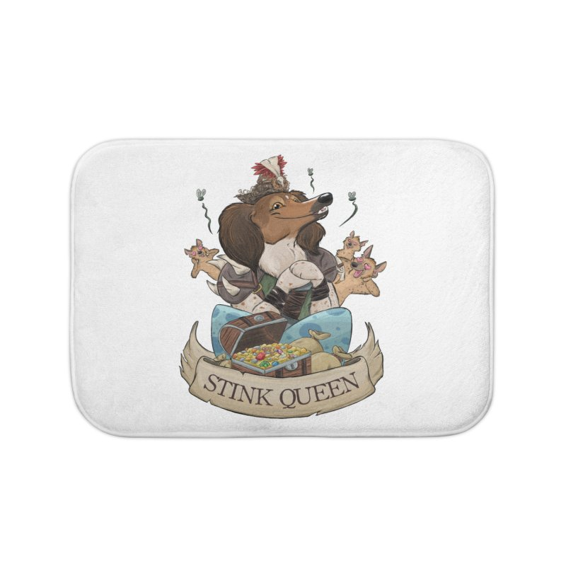 Stink Queen Home Bath Mat by DnDoggos's Artist Shop