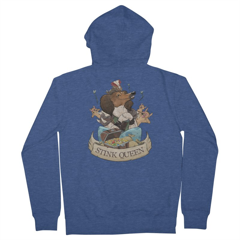 Stink Queen Women's French Terry Zip-Up Hoody by DnDoggos's Artist Shop