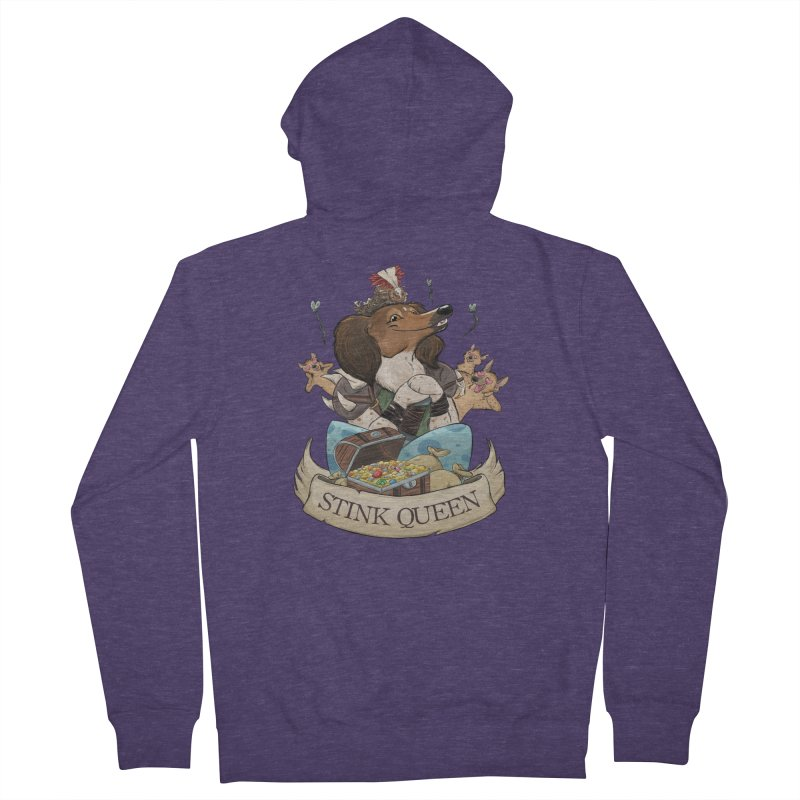 Stink Queen Men's French Terry Zip-Up Hoody by DnDoggos's Artist Shop