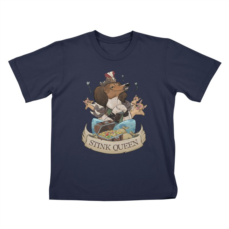 Stink Queen Kids T-Shirt by DnDoggos's Artist Shop