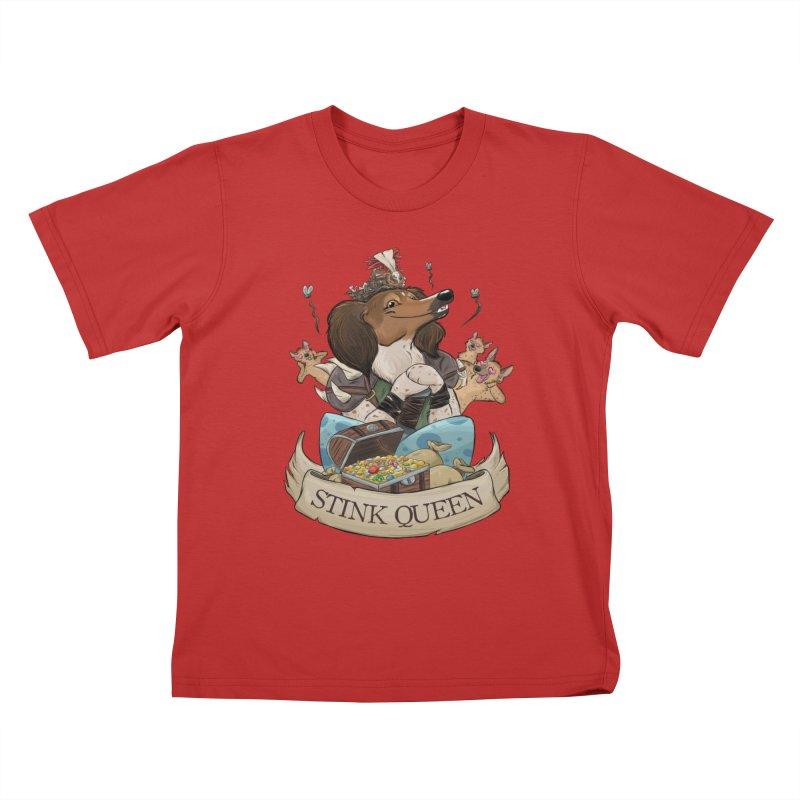 Stink Queen Kids T-Shirt by DnDoggos's Artist Shop