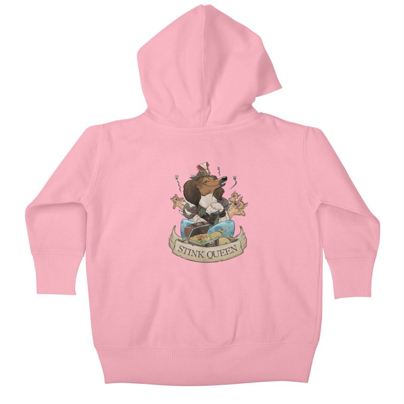 Stink Queen Kids Baby Zip-Up Hoody by DnDoggos's Artist Shop