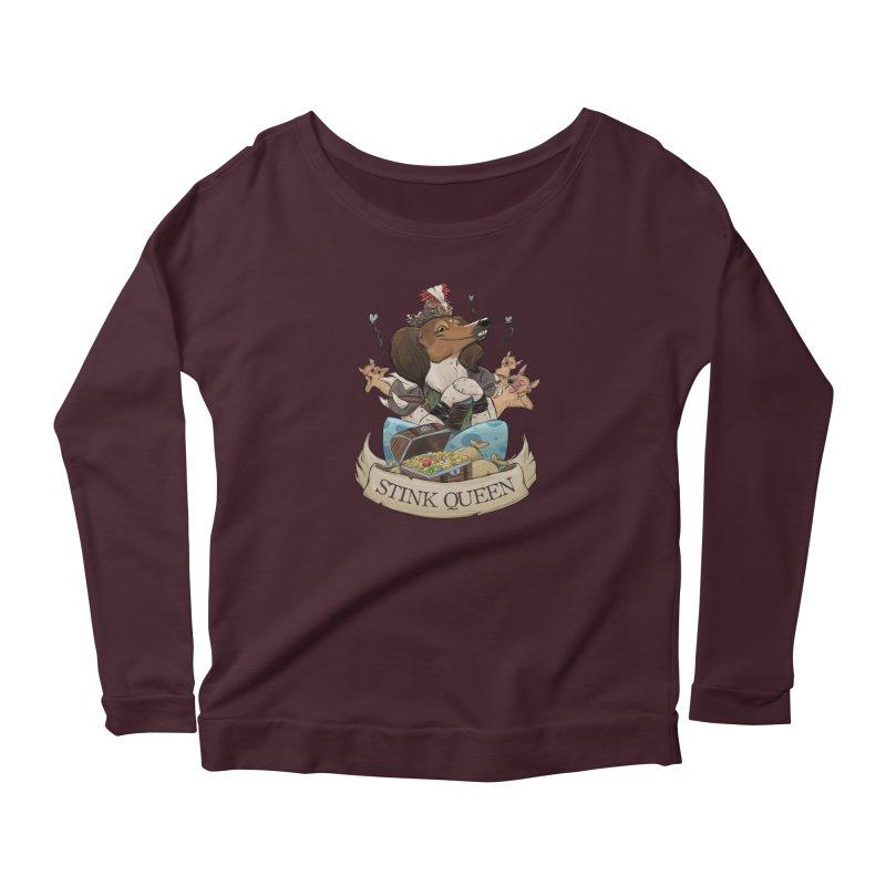 Stink Queen Women's Scoop Neck Longsleeve T-Shirt by DnDoggos's Artist Shop
