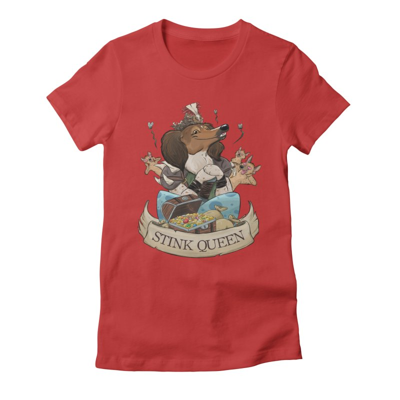 Stink Queen Women's Fitted T-Shirt by DnDoggos's Artist Shop