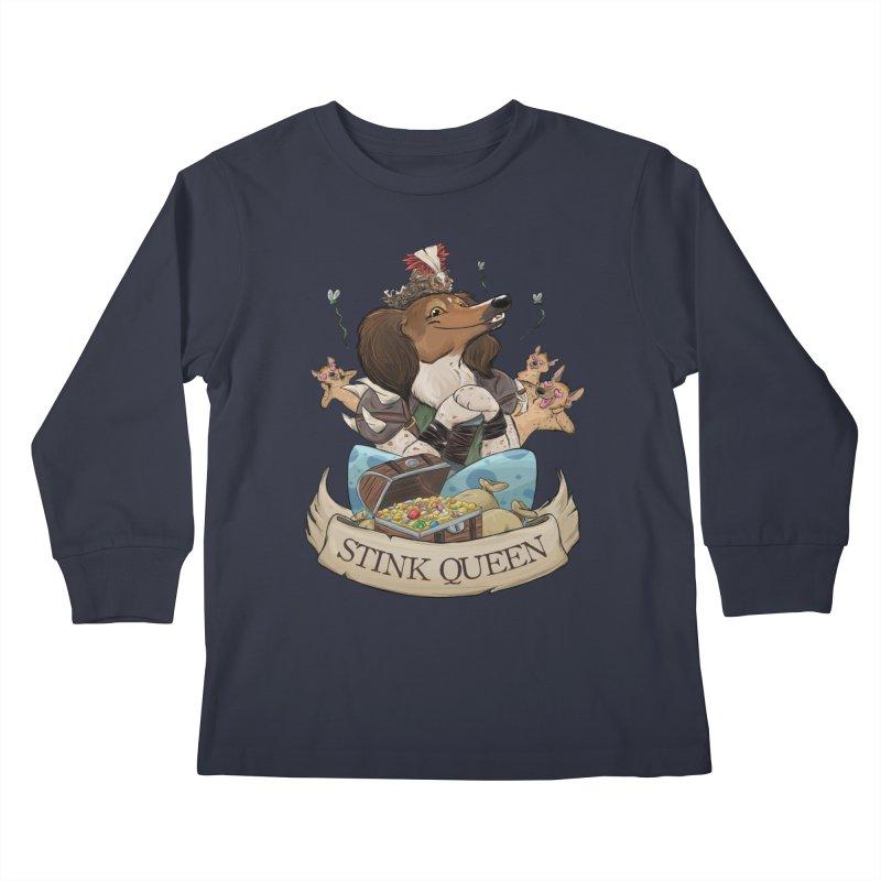Stink Queen Kids Longsleeve T-Shirt by DnDoggos's Artist Shop