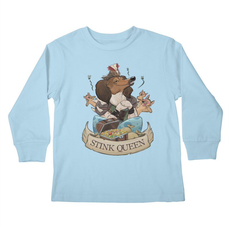 Stink Queen Kids Longsleeve T-Shirt by DnDoggos's Artist Shop