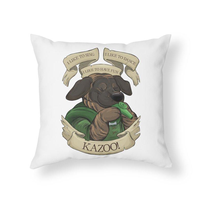 KAZOO! Tonka the Bard Home Throw Pillow by DnDoggos's Artist Shop