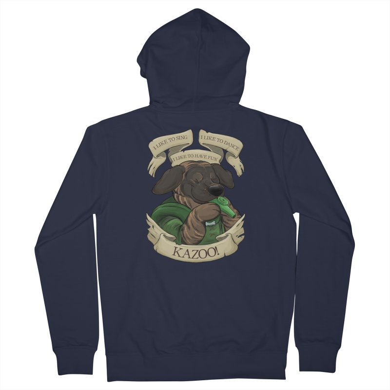 KAZOO! Tonka the Bard Men's French Terry Zip-Up Hoody by DnDoggos's Artist Shop
