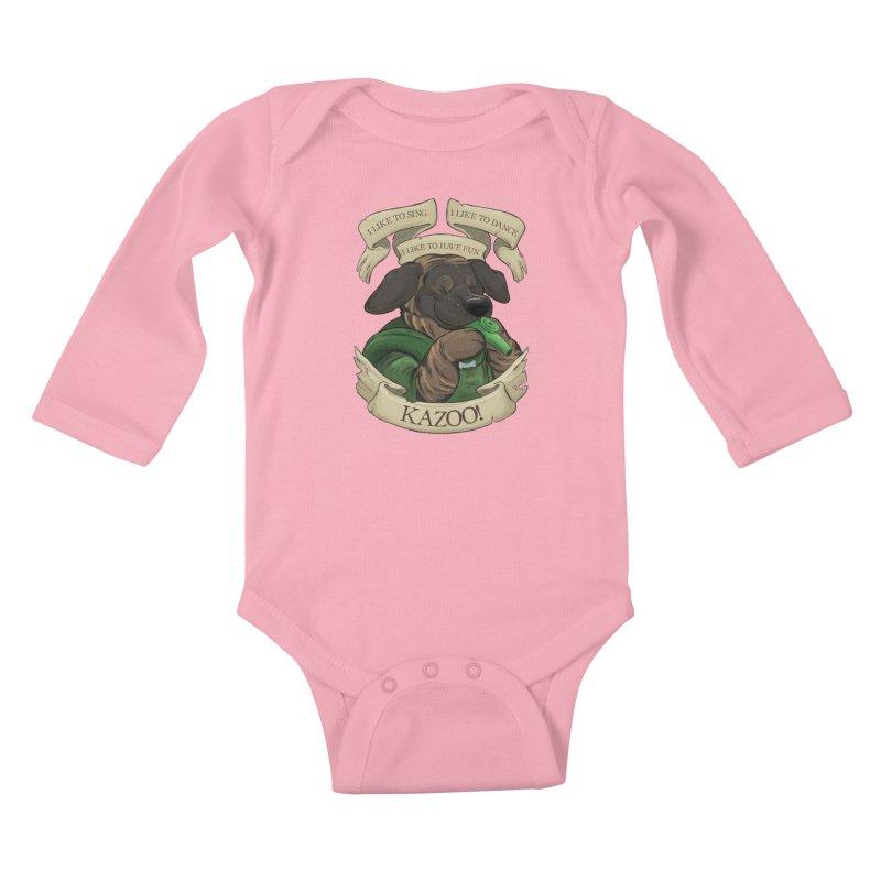KAZOO! Tonka the Bard Kids Baby Longsleeve Bodysuit by DnDoggos's Artist Shop