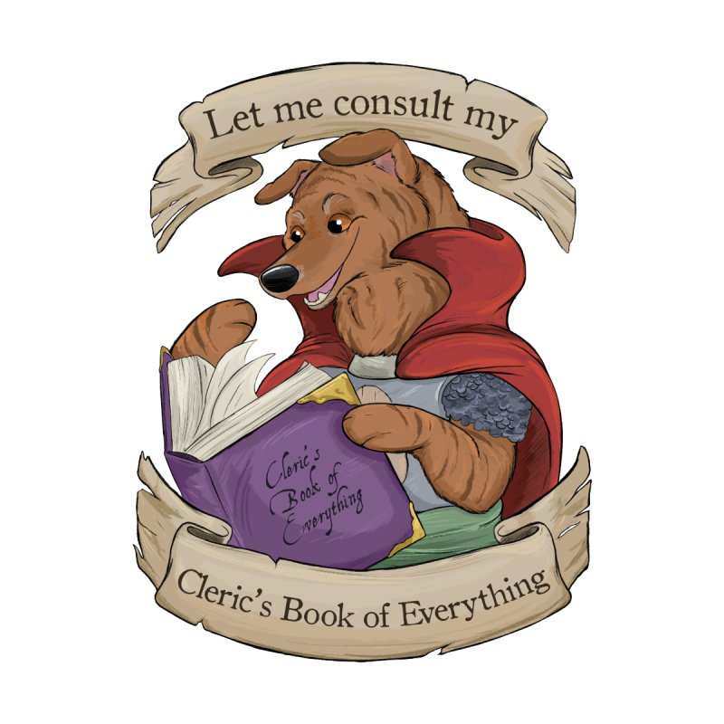 Cleric's Book of Everything Accessories Sticker by DnDoggos's Artist Shop