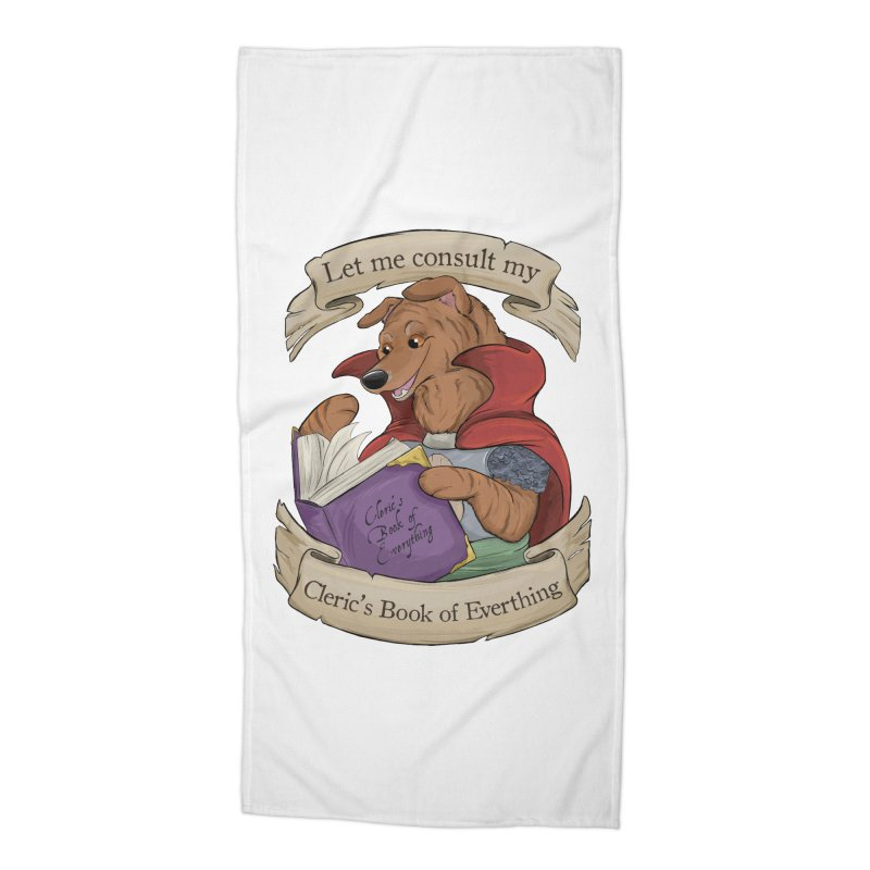 Cleric's Book of Everything Accessories Beach Towel by DnDoggos's Artist Shop