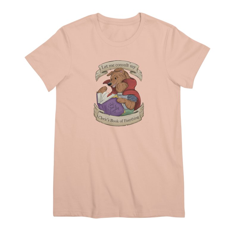 Cleric's Book of Everything Women's Premium T-Shirt by DnDoggos's Artist Shop