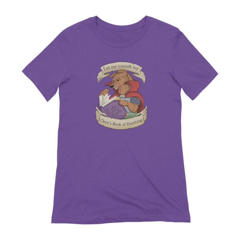 Cleric's Book of Everything Women's Extra Soft T-Shirt by DnDoggos's Artist Shop