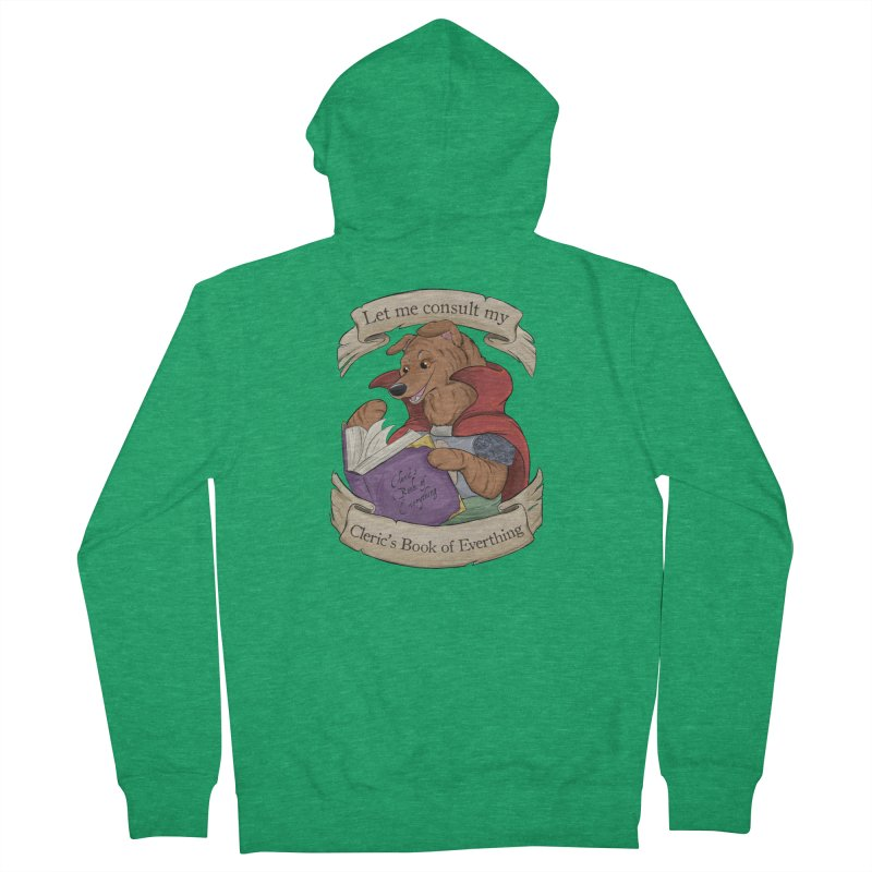 Cleric's Book of Everything Men's French Terry Zip-Up Hoody by DnDoggos's Artist Shop