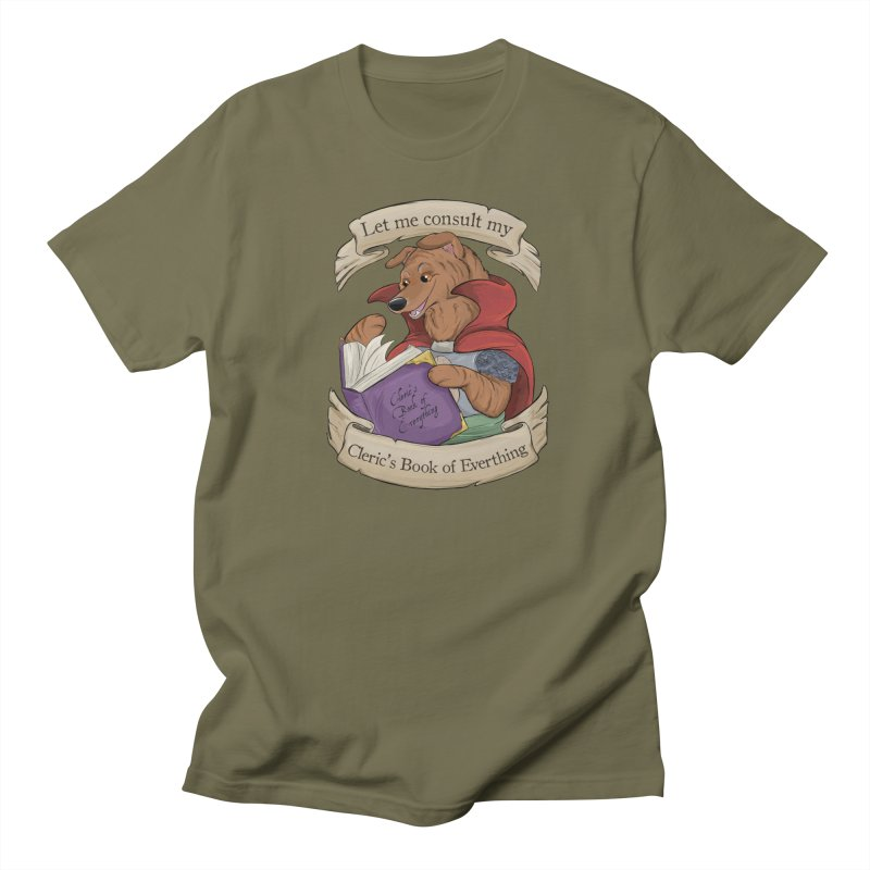 Cleric's Book of Everything Men's Regular T-Shirt by DnDoggos's Artist Shop