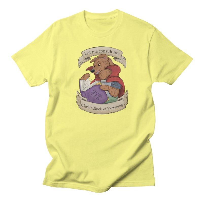 Cleric's Book of Everything Women's Regular Unisex T-Shirt by DnDoggos's Artist Shop