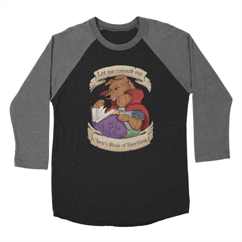 Cleric's Book of Everything Women's Baseball Triblend Longsleeve T-Shirt by DnDoggos's Artist Shop