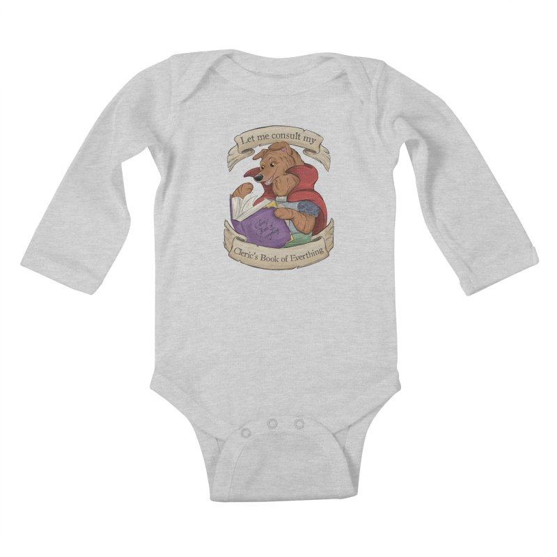 Cleric's Book of Everything Kids Baby Longsleeve Bodysuit by DnDoggos's Artist Shop