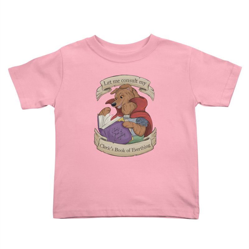 Cleric's Book of Everything Kids Toddler T-Shirt by DnDoggos's Artist Shop
