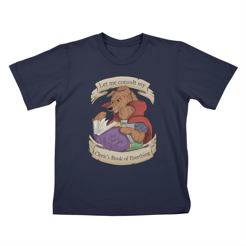 Cleric's Book of Everything Kids T-Shirt by DnDoggos's Artist Shop