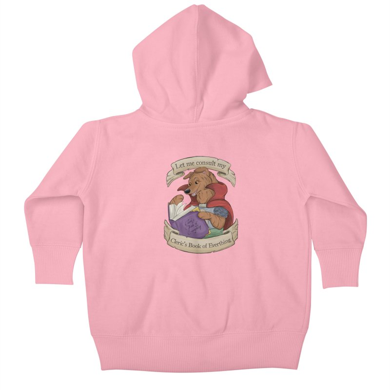 Cleric's Book of Everything Kids Baby Zip-Up Hoody by DnDoggos's Artist Shop