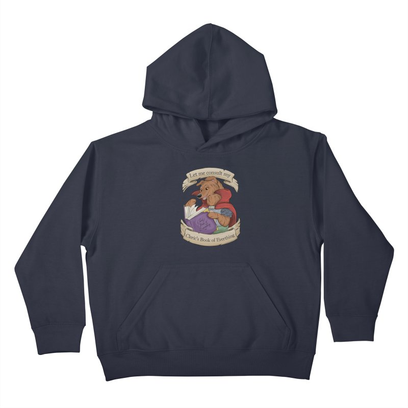 Cleric's Book of Everything Kids Pullover Hoody by DnDoggos's Artist Shop
