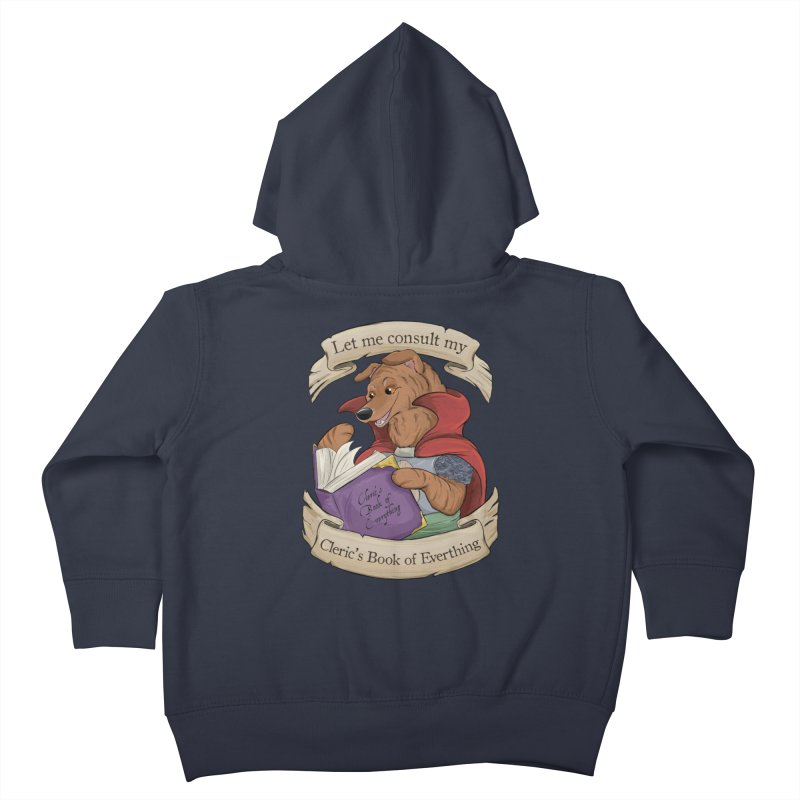 Cleric's Book of Everything Kids Toddler Zip-Up Hoody by DnDoggos's Artist Shop