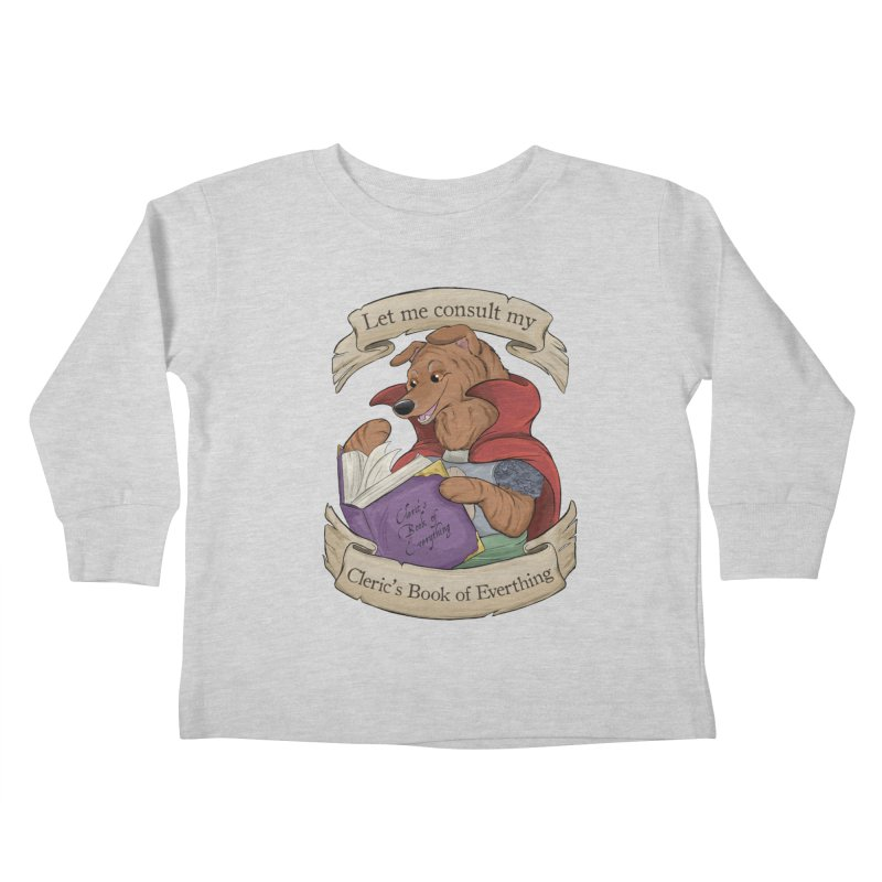 Cleric's Book of Everything Kids Toddler Longsleeve T-Shirt by DnDoggos's Artist Shop