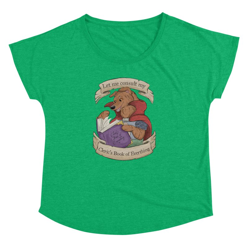 Cleric's Book of Everything Women's Dolman Scoop Neck by DnDoggos's Artist Shop